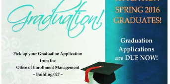 Graduation Applications Are Due Now