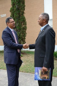 Dr. McIntyre and Frank Hatten from Boeing