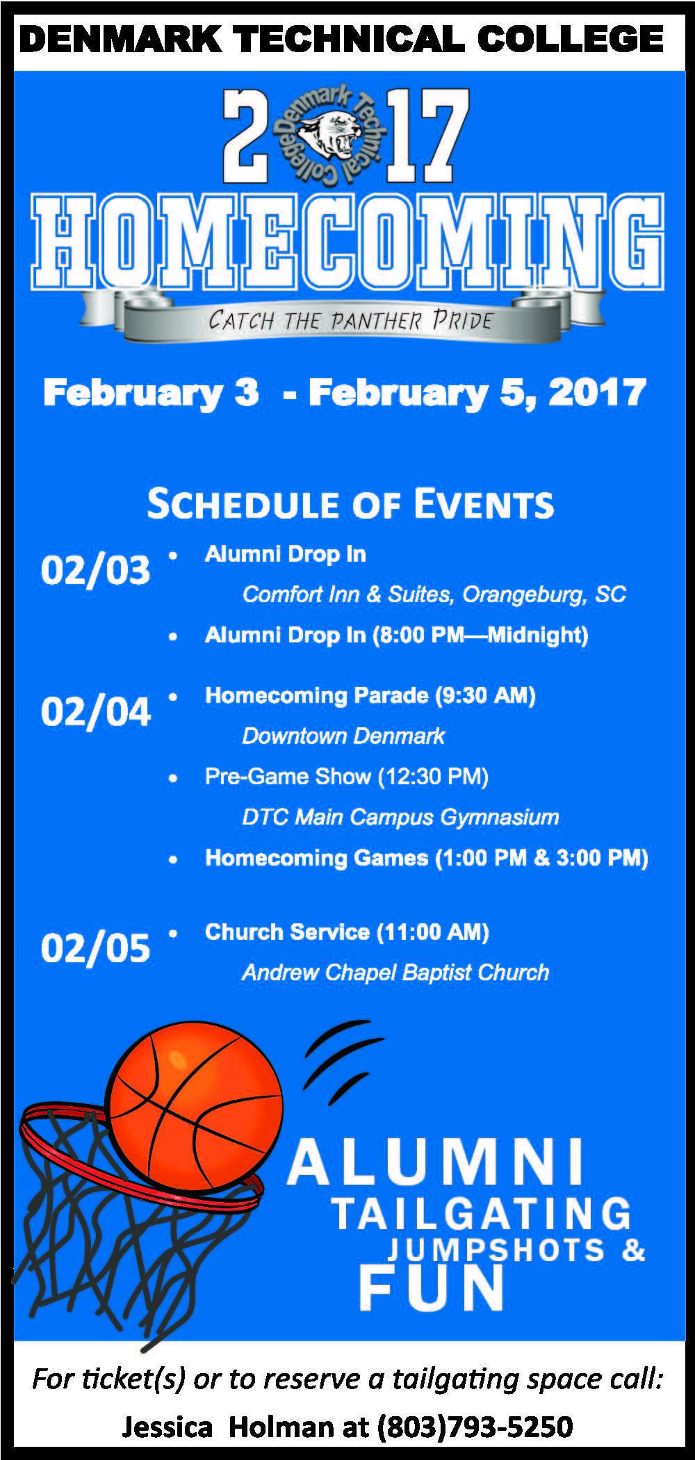 DTC Homecoming Activities 2017