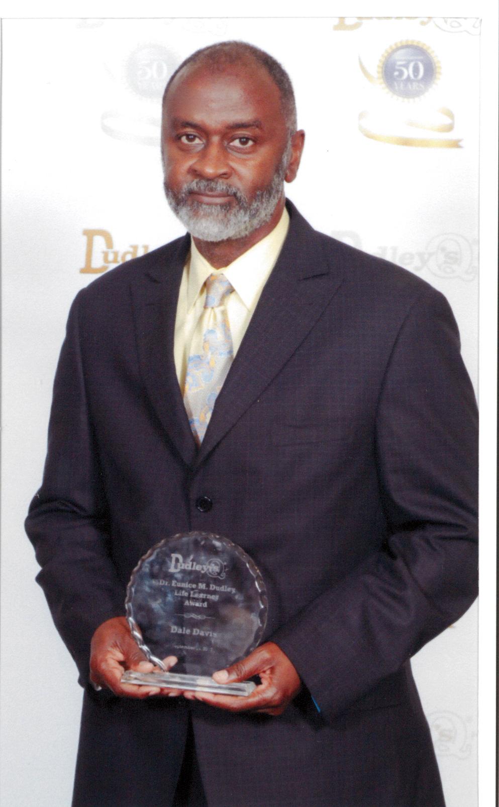 Dale Davis with award