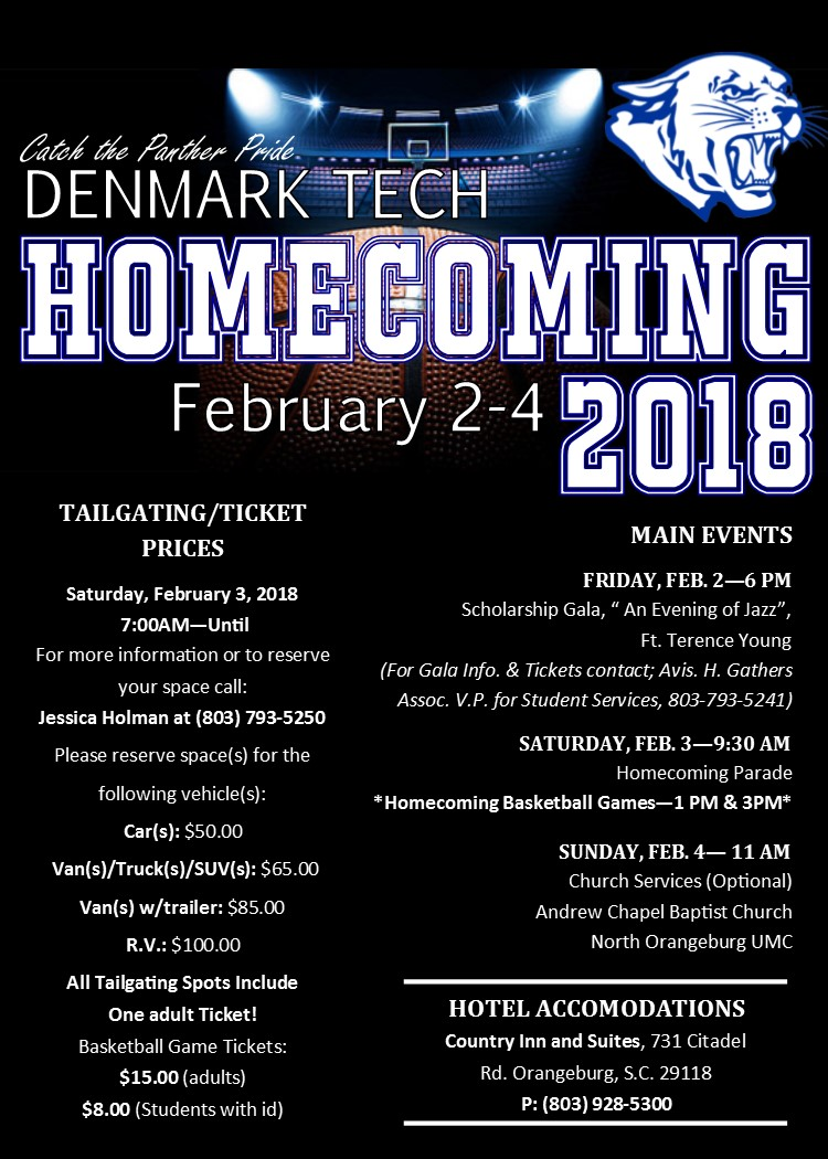 Homecoming 2018 Website and Social Media Flyer